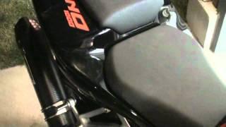 8. Carbon Fiber Mivv Exhaust 2009 Aprilia Tuono. Stock vs. baffles vs. no baffles