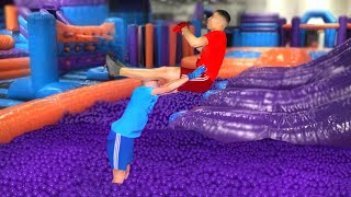 WWE MOVES AT THE INFLATABLE PARK