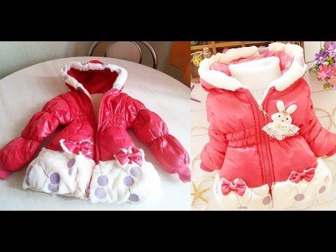 Недорогая осенне-весенняя детская куртка для девочек на холодную погоду (aliexpress) видео