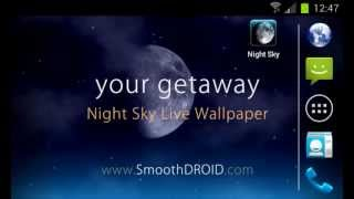 Night Sky Live Wallpaper YouTube video