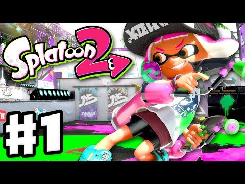 Splatoon 2 - Gameplay Walkthrough Part 1 - Turf War Multiplayer! Single Player! (Nintendo Switch) (видео)