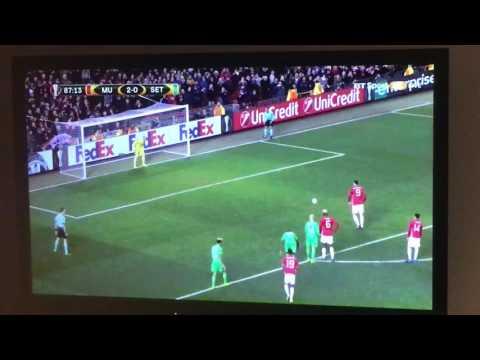 Zlatan's 3rd goal vs St. etienne, Europa league