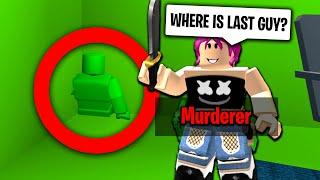 ROBLOX MURDER MYSTERY 2 LUCKIEST HIDING SPOT