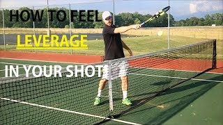 In this video, Hammer It Creator, Coach Daniel, shows you a drill that will help emphasize the leverage action of the racquet and arm into the forehand groundstroke.
