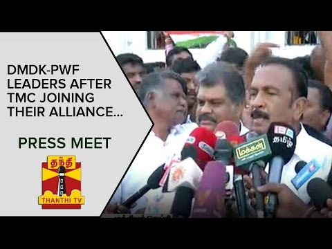 DMDK-PWF-Leaders-address-Media-after-TMC-Joining-their-Alliance--Thanthi-TV