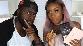 BOYFRIEND Guesses Beauty Product Prices! | Jackie Aina by Jackie Aina