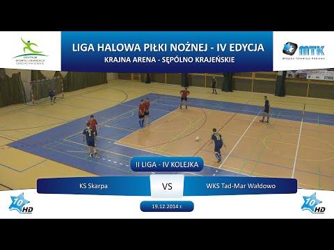 II Liga - IV Kolejka: KS Skarpa - WKS Tad-Mar Wałdowo 5:2, 19.12.2014 r.