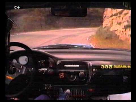 on-board sainz subaru impreza 555 al rallye de catalunya 1995
