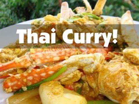 Thai Food Curry Recipe – Stir Fried Crab with Curry Powder
