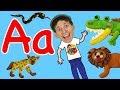 Animal Alphabet Phonics Song For Kids | Wild Animals | Learn English Children