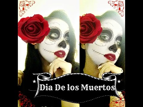 Super Easy and Simple Sugar Skull Makeup ( Dia De Los Muertos )