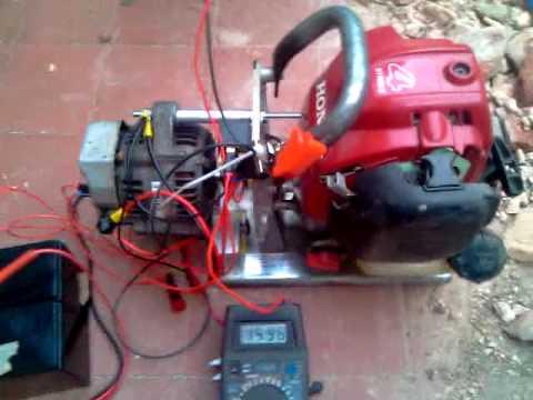 Micro 12v Generator Project Honda GX25, Denso Alternator