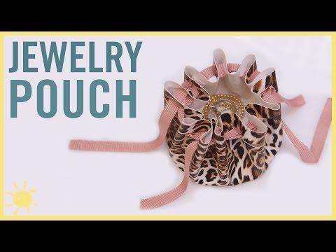 DIY  No Sew Jewelry Pouch