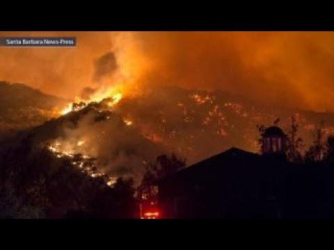 Firefighters working to contain blaze near Santa Barbara