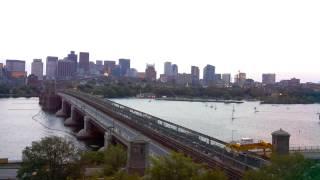 Sunset Time-Lapse Over Longfellow Bridge - Aug 27, 2014