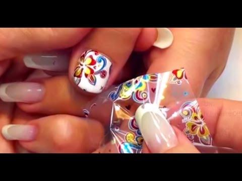 Ногти дизайн фольга технология с гель лаком