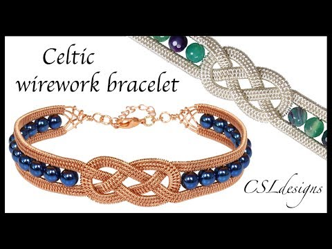 Beaded Celtic Wirework Bracelet