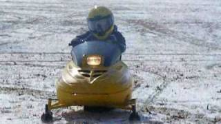 2. MY son, Kevin tearin up his Ski Doo Mini z in 2008