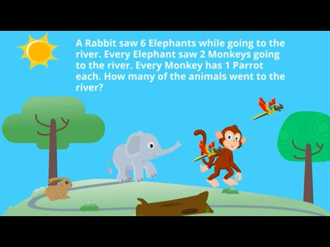 The Battle of English and Mathematics Question: Rabbit, Elephant, Monkey and Parrot Riddle SOLVED