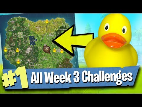 Fortnite WEEK 3 Challenges Guide (Search Rubber Duckies!) - Fortnite Battle Royale
