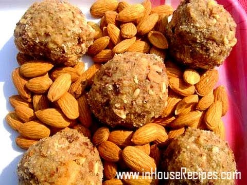 Panjiri Recipe - Gaund ke Ladoo- Hindi with Eng Subtitles - inHouseRecipes