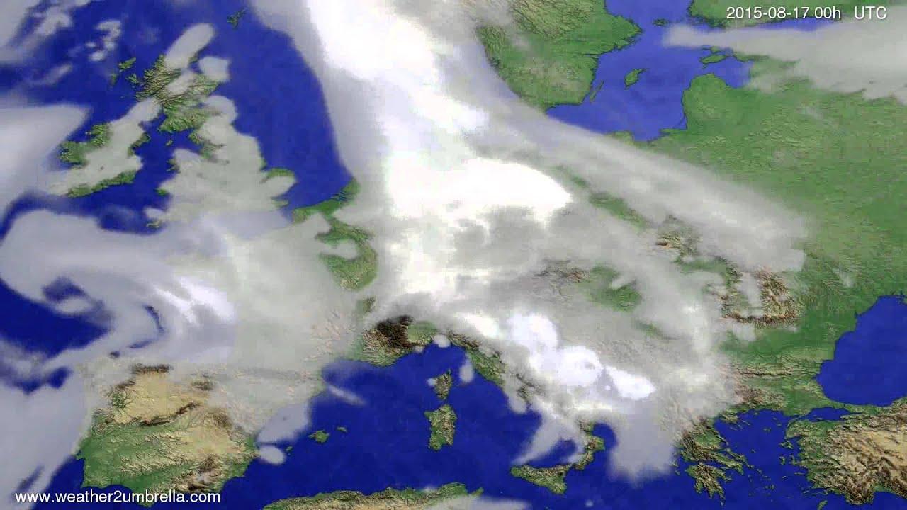 Cloud forecast Europe 2015-08-13