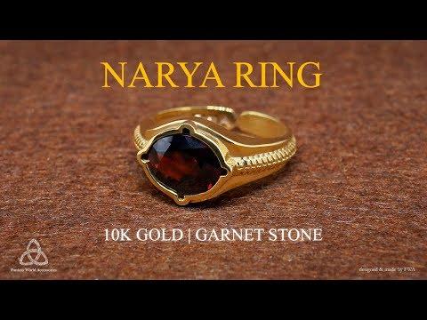 Nhẫn Narya Ring - Vàng 10K - Đá Garnet | FWA