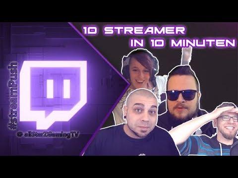 10 Streamer in 10 Minuten - TWITCH HIGHLIGHTS GER  Funny Clips #streamPush #001  Deutsch / GERMAN