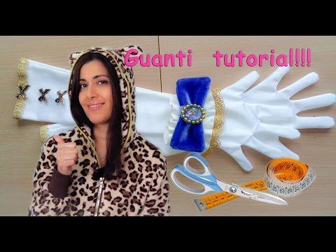 CUCIRE GUANTI ELASTICIZZATI IN LYCRA - Tutorial How to make gloves