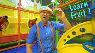 Video Play at the Play Place with Blippi | Learn Fruit and Healthy Eating for Children MP3, 3GP, MP4, WEBM, AVI, FLV September 2019