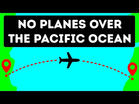 Why Planes Rarely Fly Over the Pacific