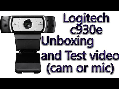 Video LOGITECH C930e || UNBOXING AND CAMERA OR MIC TEST || BEST WIDESCREEN WEBCAM download in MP3, 3GP, MP4, WEBM, AVI, FLV January 2017