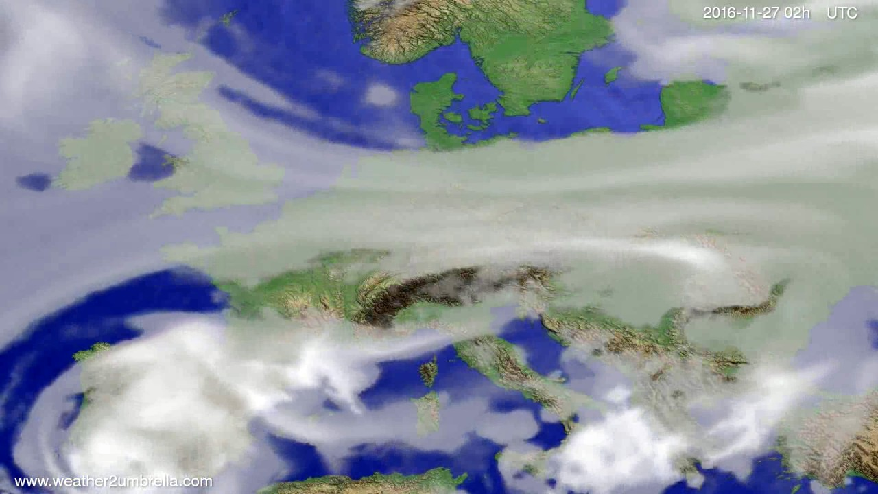 Cloud forecast Europe 2016-11-23