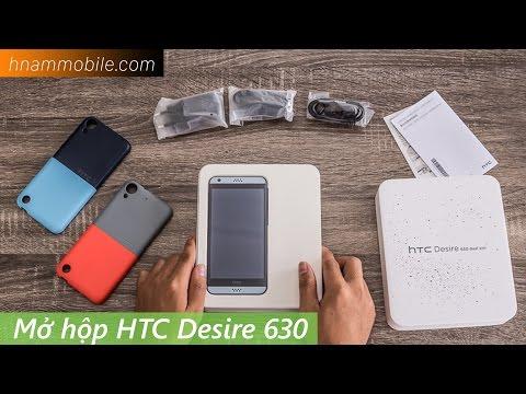 Mở hộp HTC Desire 630 - Thiết kế trẻ trung, tặng kèm ốp lưng và tai nghe Hi-res cao cấp.