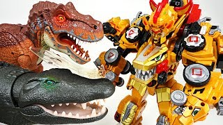 Video DinoCore Ultimate D-Buster Tyranno! Protect Tayo from giant dinosaur and crocodile! - DuDuPopTOY MP3, 3GP, MP4, WEBM, AVI, FLV Juli 2018