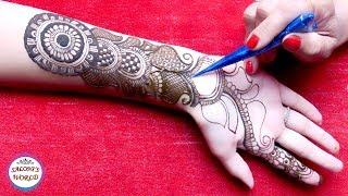 Video Easy Simple Arabic Henna Gol Tikki Easy Designs For