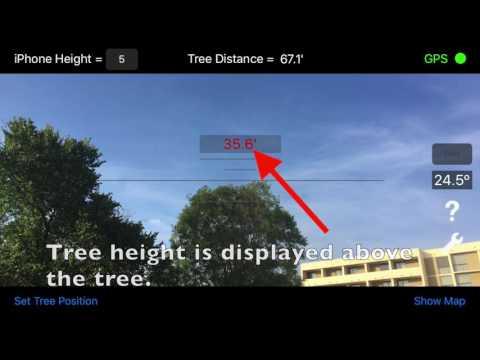 Timber Tree Height Estimator - iOS App - User Instructions