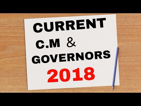 Current Chief Ministers & Governors Of 29 states of India 2018.