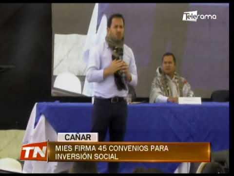 MIES firma 45 convenios para inversión social