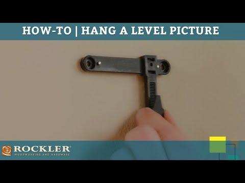 How to hang a level picture, gallery walls and a family picture collage