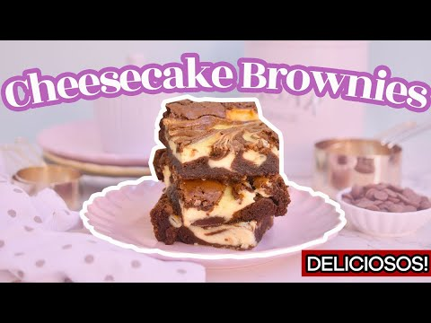 CHEESECAKE BROWNIES INCREÍBLES - AnnasPasteleria