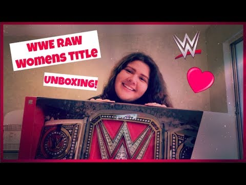 WWE Raw Womens Title Unboxing!