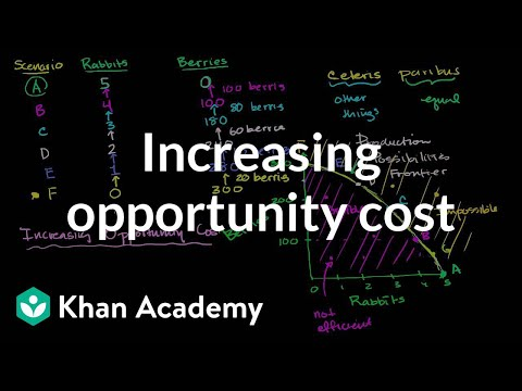 Increasing opportunity cost video