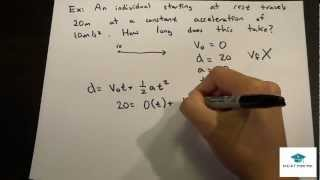 Physics Lecture: Uniform Acceleration Motion