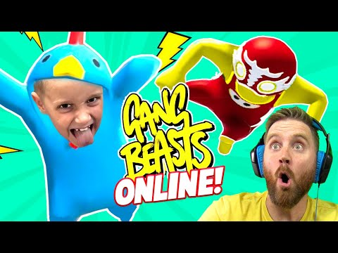 Gang Beasts ONLINE! KIDCITY vs the Internet | KIDCITY GAMING