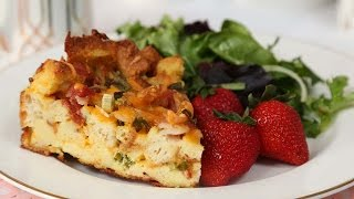 Cheesy Breakfast Bake | Brunch Month by The Domestic Geek