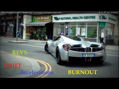 supercars - Just watch all the great moments from 2012 in and around the UK More info below the extensive list of cars! Bugatti Veyron Supersports Rolls Royce Phantom Fe...