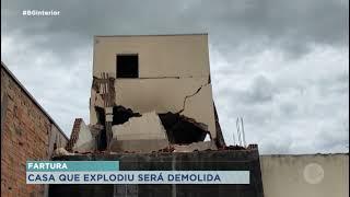 Fartura: casa condenada após explosão será demolida