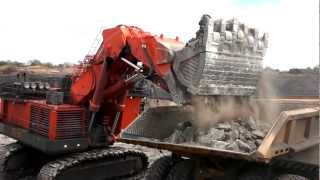 The EX8000-6 is the largest excavator made by Hitachi. This is one of two models working non-stop at Vale's Moatize coal mine in...