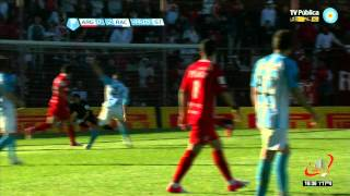 GOL DE CENTURION - ARGENTINOS 0 RACING 2 - FECHA 2 (12 08 2012)
